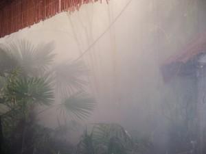 nebulización agua jardines