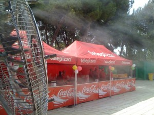 agua nebulizada eventos deportivos madrid