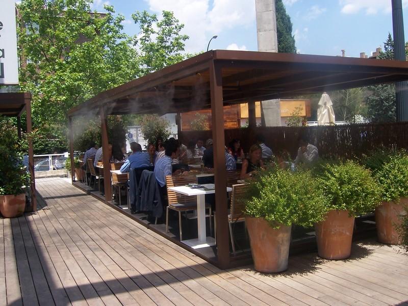 microclimas terrazas restaurantes