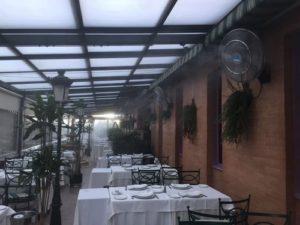 ventiladores nebulizadores El Brasero de Don Pedro 300x225 - Mantenimiento ventiladores nebulizadores en terraza